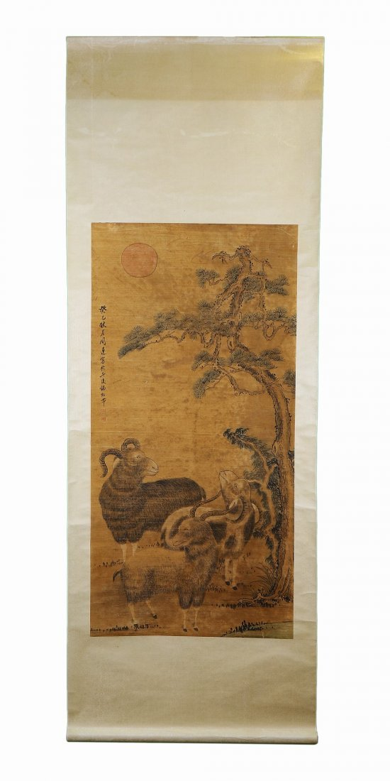 A CHINESE ANTIQUE PAPER PAINTING BY ZHOU LIAN - 3