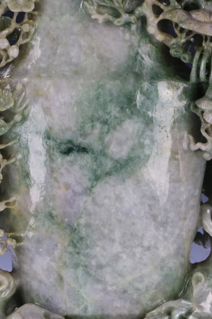 A FINE & BIG JADEITE CARVED VASE - 6