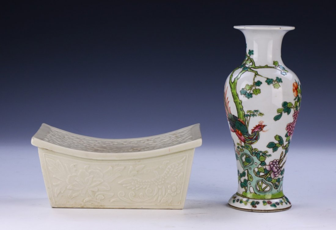 TWO (2) CHINESE PORCELAIN MIXED ITEMS