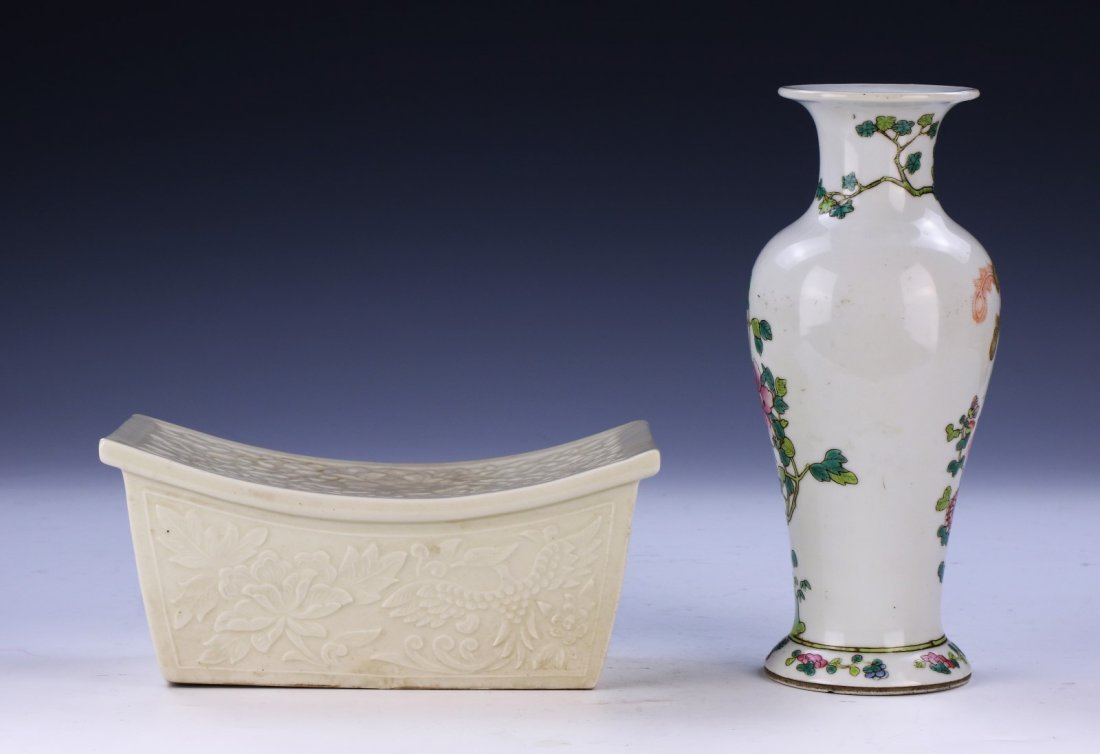 TWO (2) CHINESE PORCELAIN MIXED ITEMS - 2