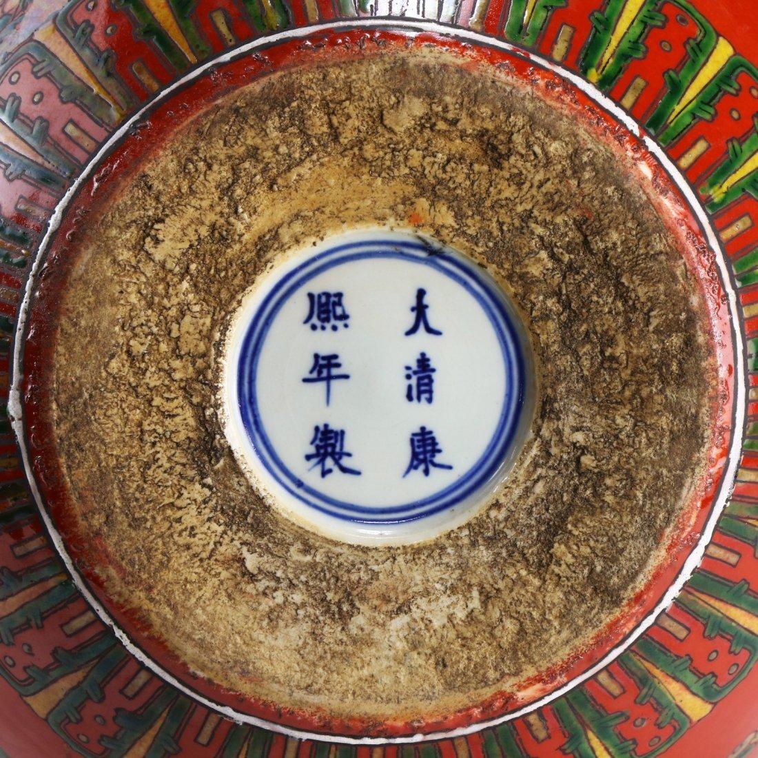 A CHINESE ANTIQUE FAMILLE ROSE PORCELAIN VASE - 7