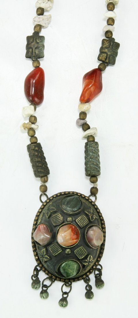 TWO (2) TIBETAN JEWELED NECKLACES - 3