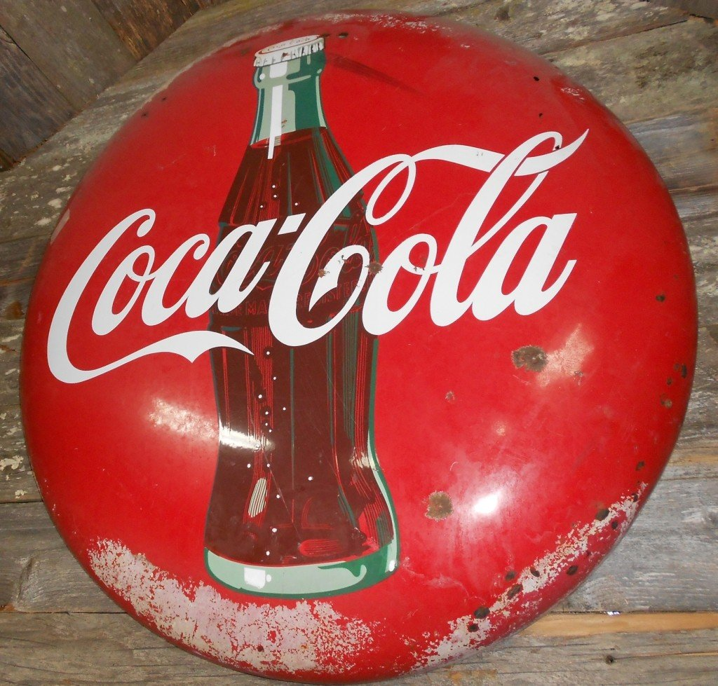 1002: 30-Inch Coca Cola Button