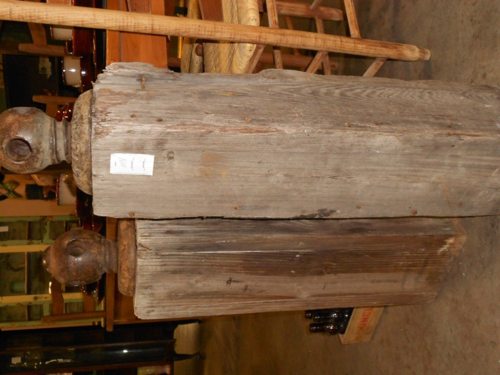 108: Hitching Posts tallest one measures 3 ft 1/2 inch