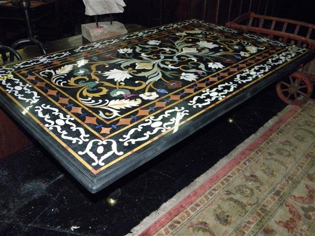"Table- Pietra- Dura 21'h x 60""w 36'd"