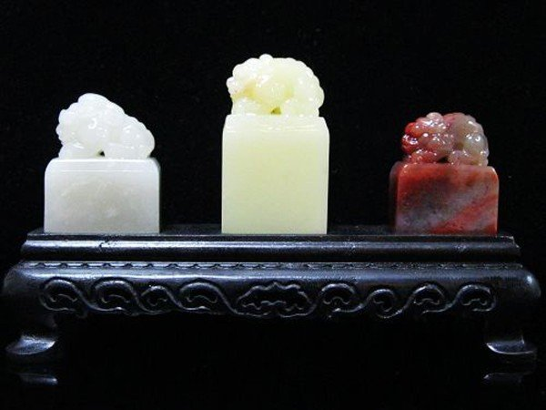 4: A ChineseSet of Three Soapstone Seals