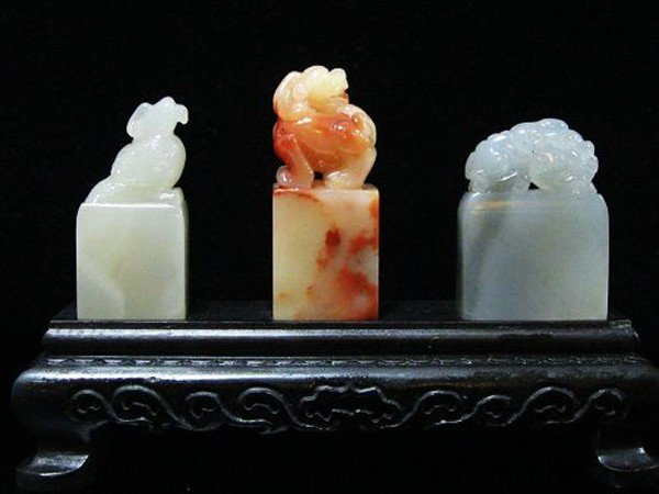 5: A ChineseSet of Three Soapstone Seals