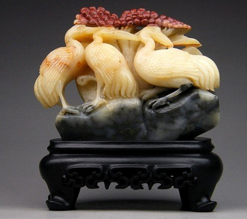 10: A Fine Chinese Soapstone  Crane Carving