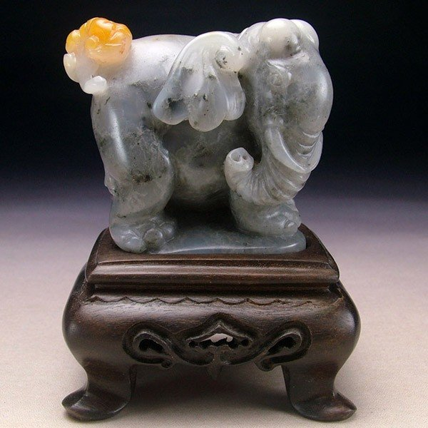 12: A Chinese Elephant Soapstone  Carving