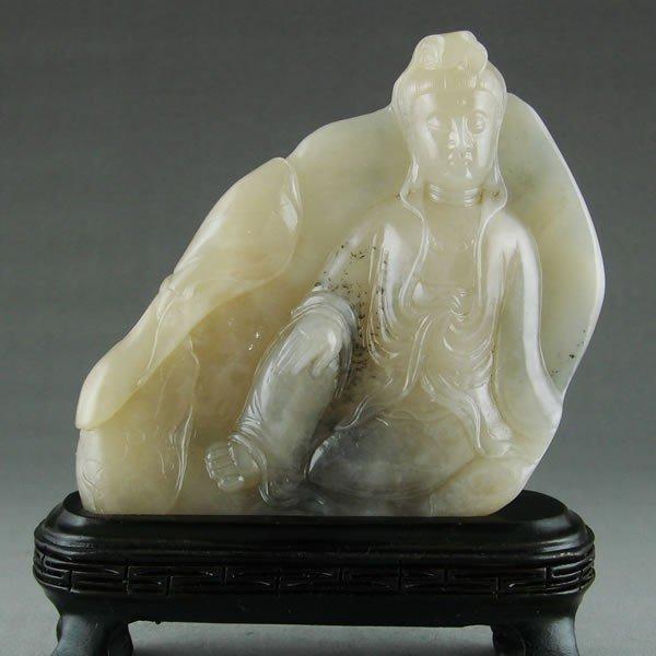 14: A Chinese Pure White Soapstone Guanyin