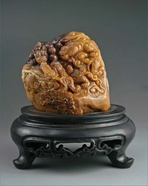 16: A Small Chinese  Fine Soapstone Carving