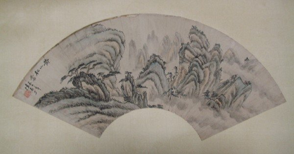 18: A Chinese Fan Painting , After Lu Yah Shao , size: