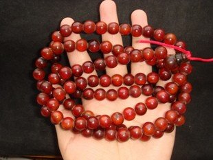 300: An Old Precious Rhino Horn Beads Necklace - 3