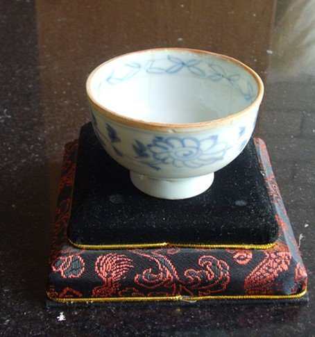 259: A Rare Chinese Yuan Dynasty Unearthed Blue & White