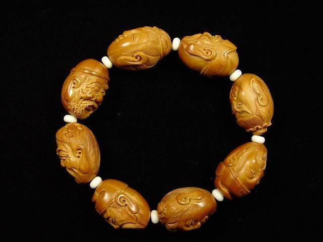 51: A Well Carved Olivary Nucleus Bracelet