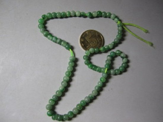 71: An Old Natural Jadeite Beads Necklace