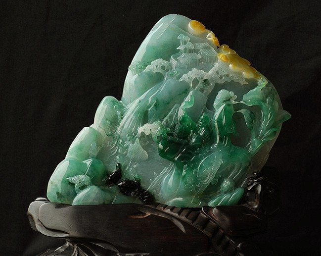 238: A Large Natural Icy Jadeite Carving