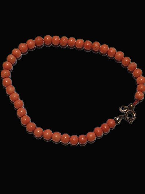 6: A Vintage Red Coral Bead Bracelet