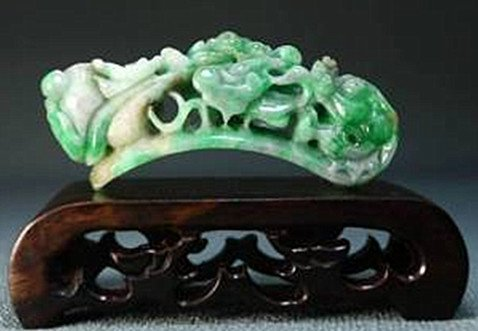 19: An Old Natural Jadeite Carving