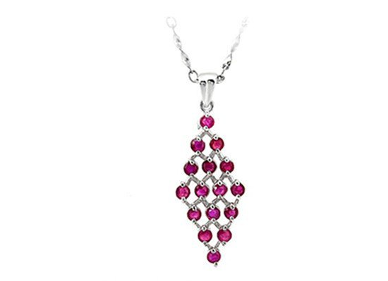 2: Certified 925 Gilt Silver Natural Ruby Pendant