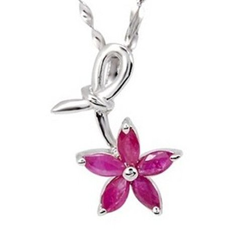 3: Certified 925 Silver Natural Ruby Pendant