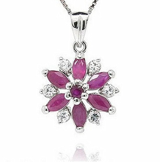 4: Certified 925 Silver Natural Ruby Pendant