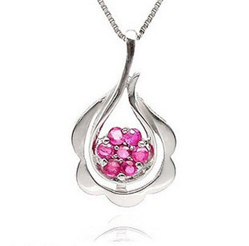 6: Certified 925 Silver Natural Ruby Pendant
