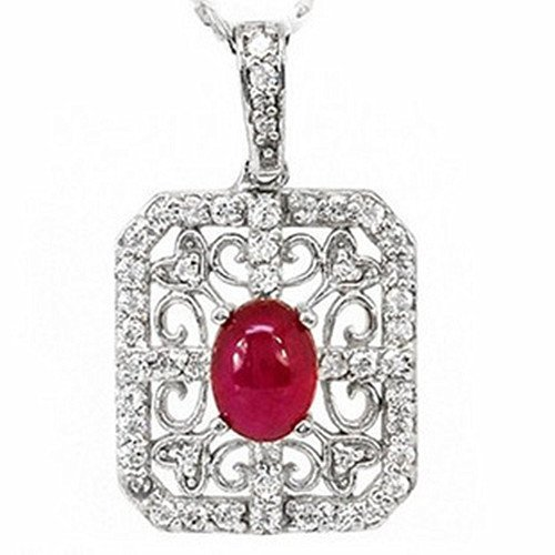 8: Certified 925 Silver Natural Ruby Pendant