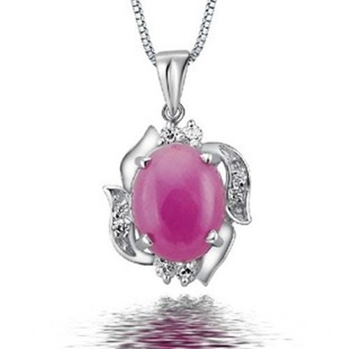 9: Certified 925 Silver Natural Ruby Pendant