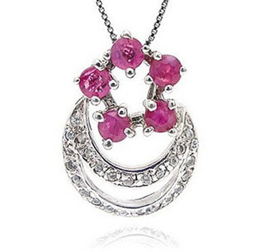 10: Certified 925 Silver Natural Ruby Pendant