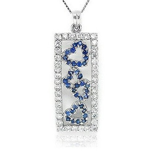 13: Certified 925 Silver Natural Sapphire Pendant