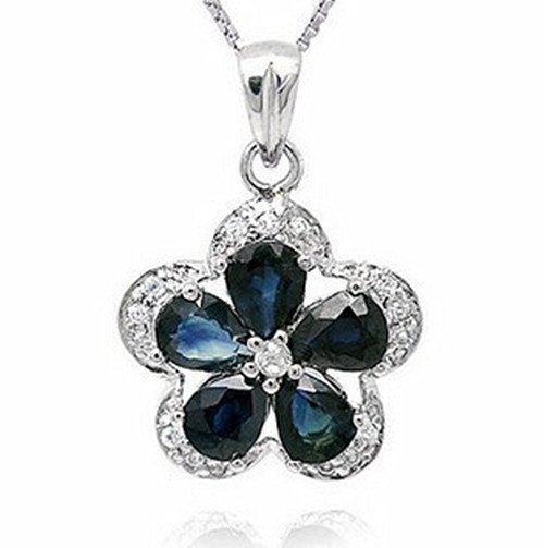 14: Certified 925 Silver Natural Sapphire Pendant