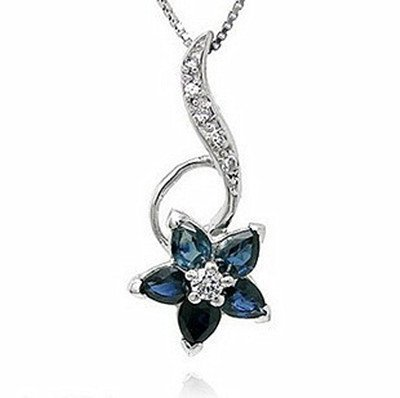 15: Certified 925 Silver Natural Sapphire Pendant