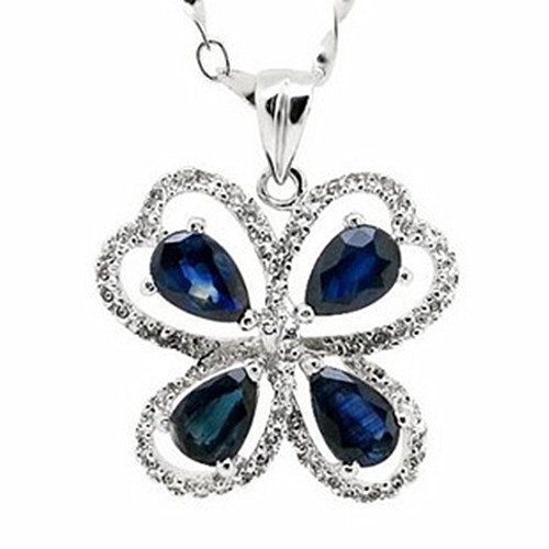 16: Certified 925 Silver Natural Sapphire Pendant
