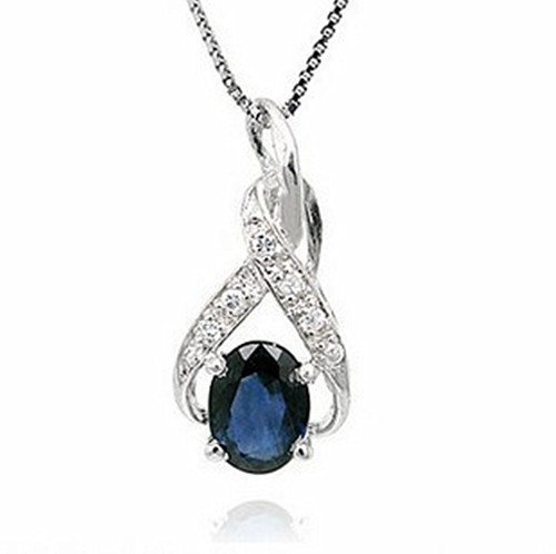 17: Certified 925 Silver Natural Sapphire Pendant
