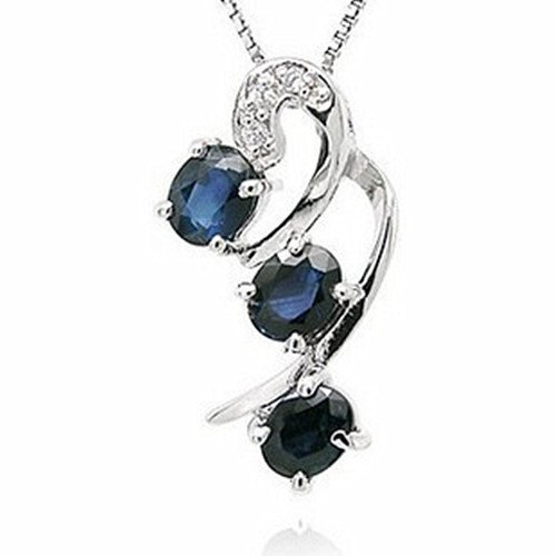 18: Certified 925 Silver Natural Sapphire Pendant