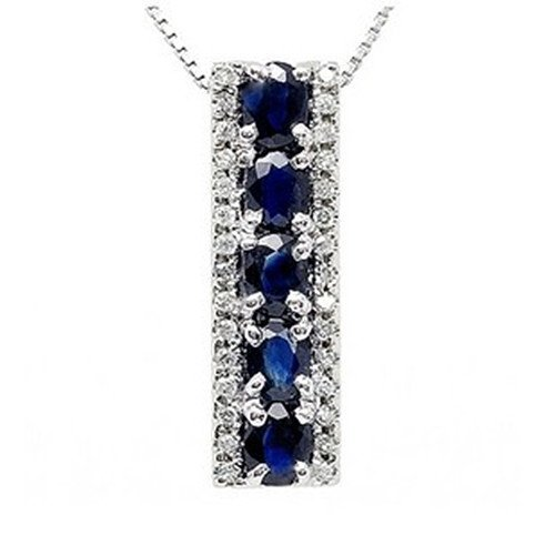 19: Certified 925 Silver Natural Sapphire Pendant
