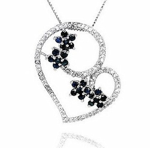 20: Certified 925 Silver Natural Sapphire Pendant