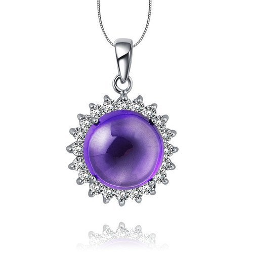 24: Certified 925 Silver Natural Crystal Pendant