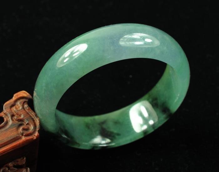 83: Certified Icy Green Jadeite Bangle