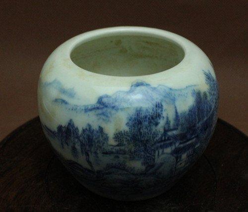 A Blue & White Water Pot