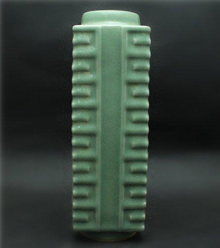 A Green Glazed Cong Vase