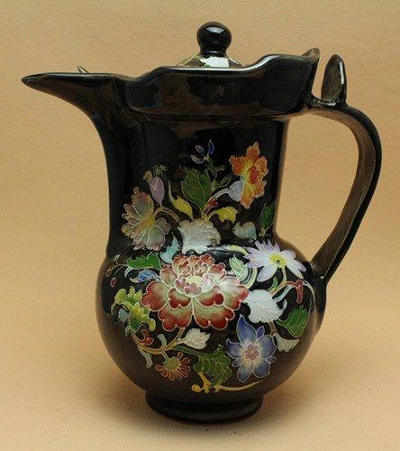 A Black Ground Teapot