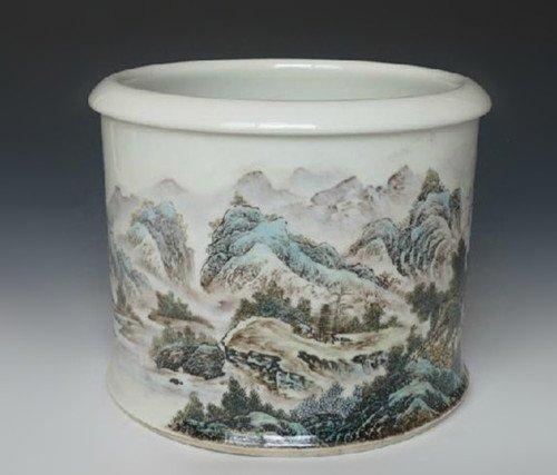 Fine Chinese Famille Rose Brush Pot