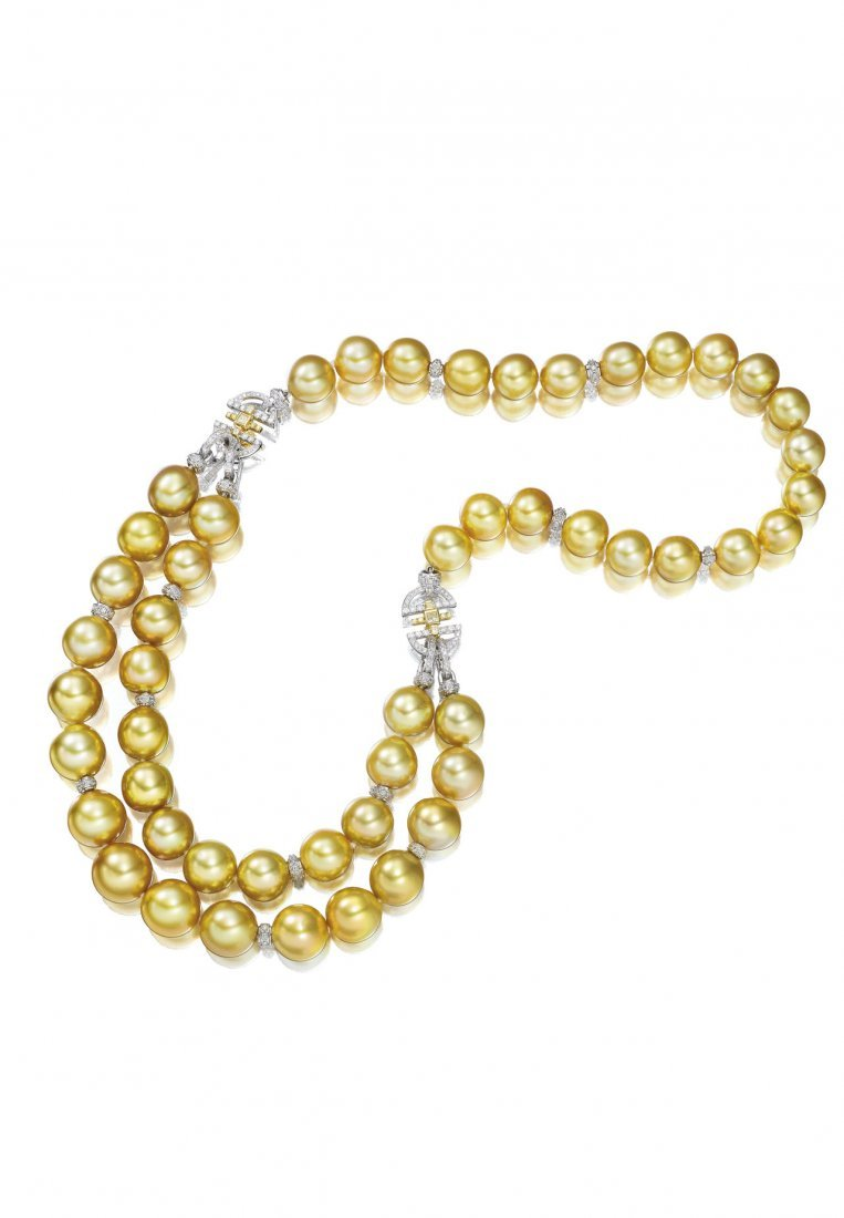 A CUL/PEARL & DIAMOND NECKLACE, DILYS' COLLECTION
