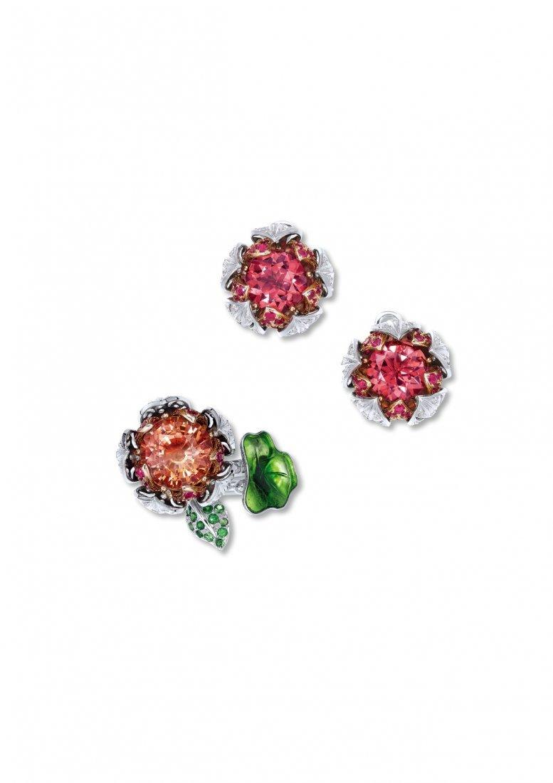 A SET OF MULTI-GEM, DIAMOND AND ENAMEL JEWELRY