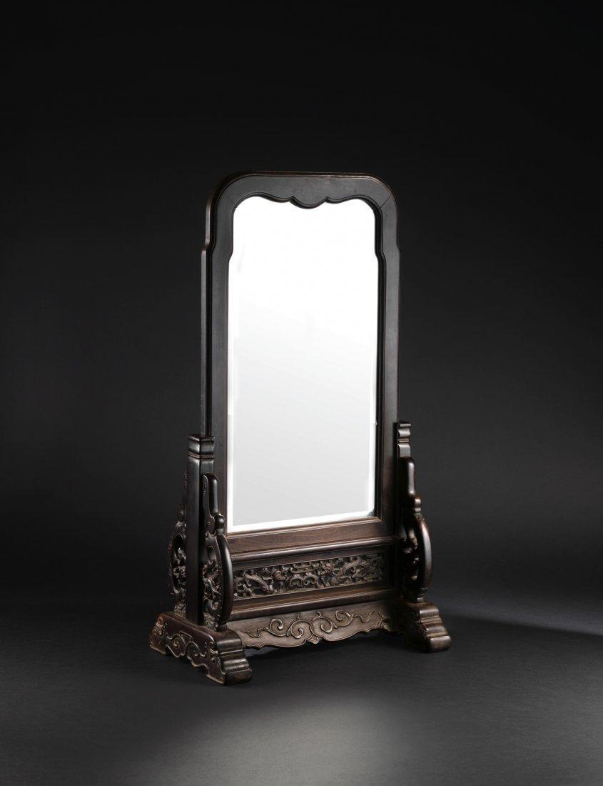 A Fine Zitan Mirror