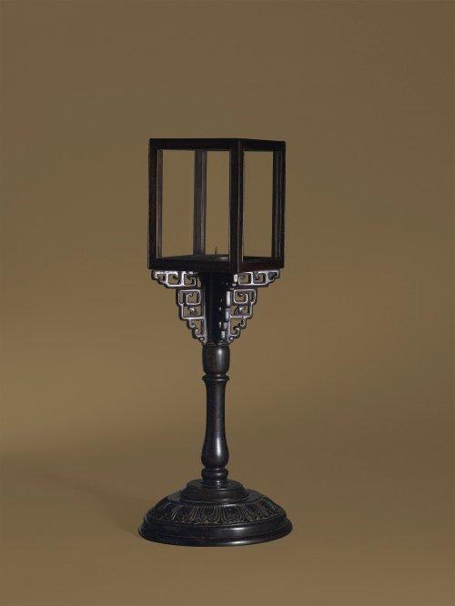 A Zitan Table Lamp