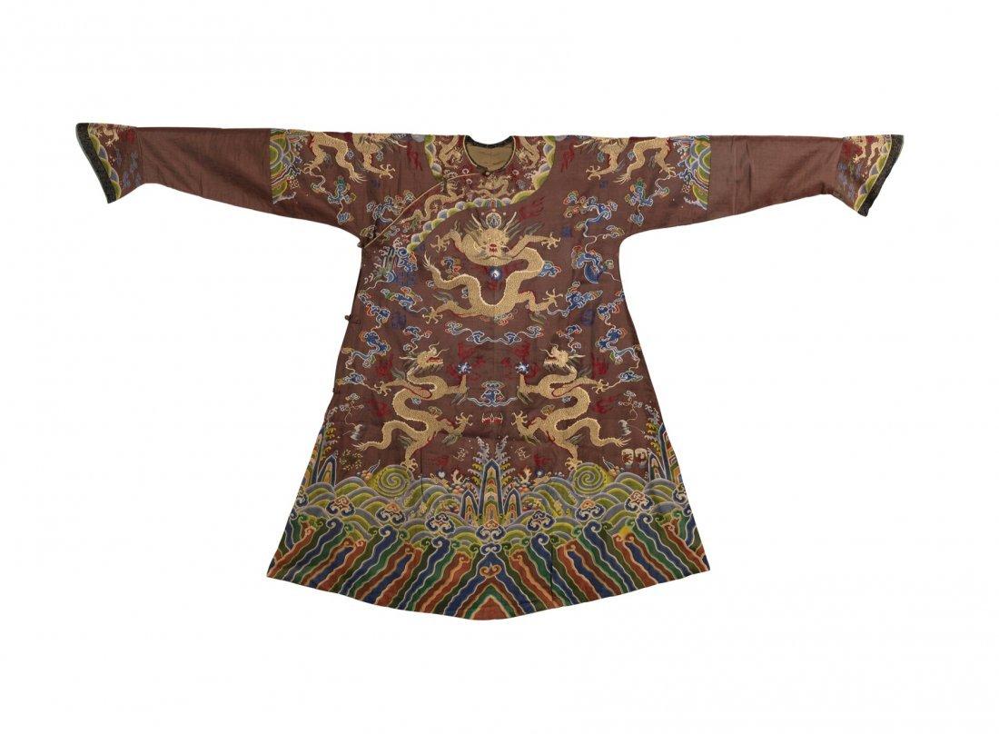 An Important Imperial Brown Kesi Dragon Robe