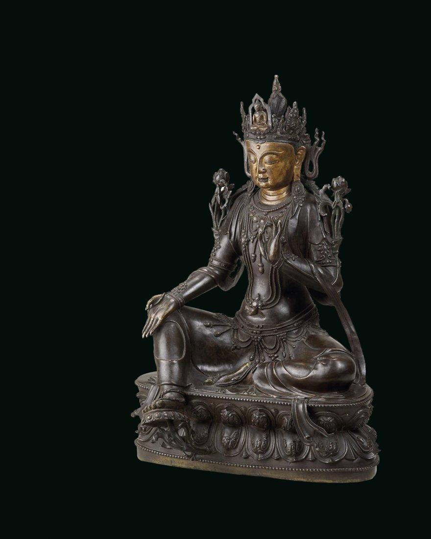 A Rare Bronze Figure of Avalokesvara